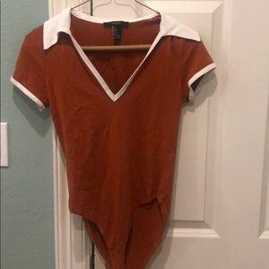 Forever 21 Deep Orange Bodysuit